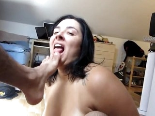 Kinky White Slave Worships Brown Cock and licking Ass