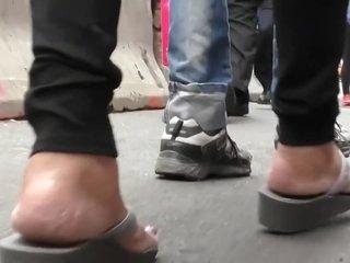 Candid Mature Indian Feet