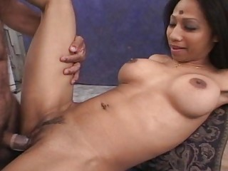 Horny indian wife playing with a stiff Cock