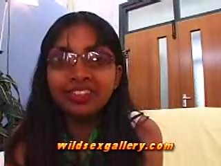 Shy Indian Girl Gives Very Slow Blowjob