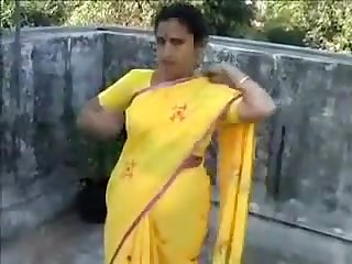 Bhabhi Caught On Roof