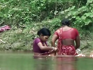 Bhabhi Taking Bath in Ganga