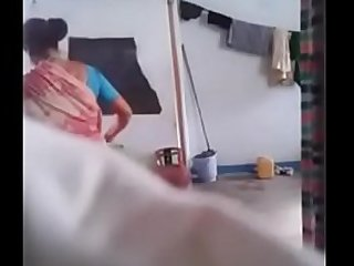 Desi Mom Spied on Hidden Cam by Her Son