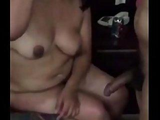 Desi aunty suck big dick