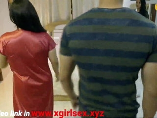 Indian hot milf bhabhi fucks with boy front of daughter