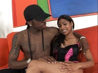 Cute babe spreads legs for black mutant cock