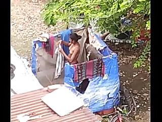 Desi village teen bathing is public fully nude indian nangi larki