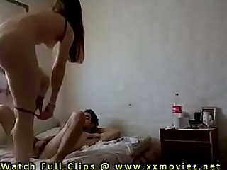 Curvy amateur Latina takes charge of Boyfriends cock