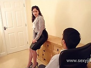 Indian Secretary a. punished t. and to fuck boss who creampies her tight pussy in the office no mercy dirty hindi audio desi chudai leaked scandal sex tape