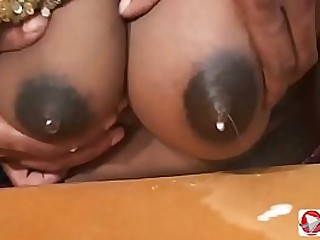 Indian woman fucks guy and gives him to fuck himself in the ass