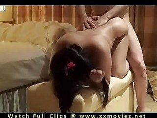 Cute Indian wife fucked hard goddy style