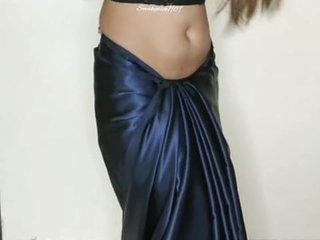 Saree strip tease