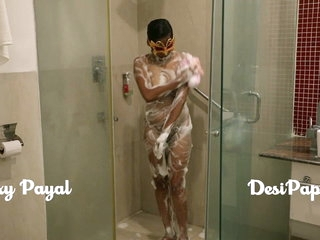 desi south indian girl young bhabhi Payal in bathroom